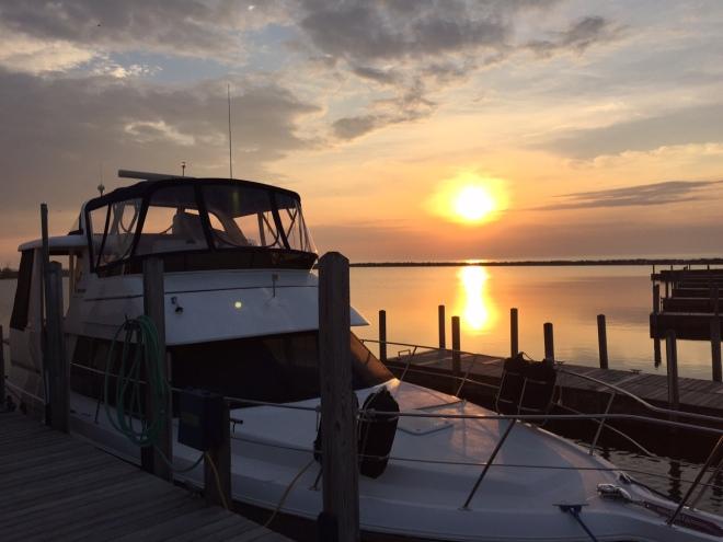 boat - sunrise